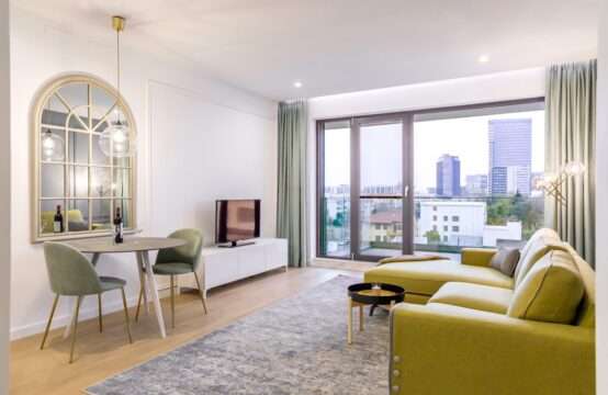 Appartement 2 pièces, luxe, avec terrasse, meublé, quartier Herastrau (id run: 16391)