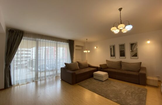 3-room apartment, furnished, with terrace and parking space, Floreasca-Stefan cel Mare area